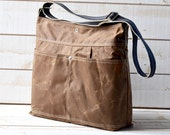 Waxed Canvas bag,Cross body bag, Travel bag,Briefcase, Messenger bag, Brown Tote, Travel bag,striped strap,most popular bag