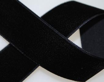 Nylon Velvet Trim 7/8 inches wide - 50 yard roll - Black
