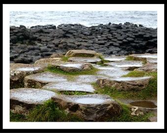 """Fotografía """"Giants Causeway"""". La Calzada del Gigante, Irlanda del norte. Imagen para imprimir. Descarga digital."""
