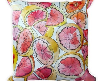 Double Sided, Decorative Pillow, handmade pillow, fruit throw pillow, marble pillow, throw pillow, banana pillow