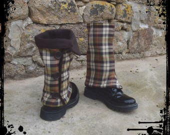 "gaiters adults tartan ""green red brown"""