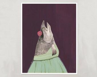 Art Print - Salmon - Signed by Artist - 3 Sizes - S/M/L