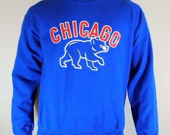 Chicago Cubs Champions Sweatshirt Mens Sweater Crewneck Baseball