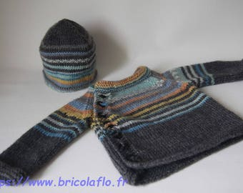 "Jacket and hat set ""Raoul"" birth"