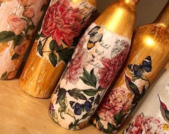 Pretty Summer-Time Vintage Vibe Deco Bottle Set