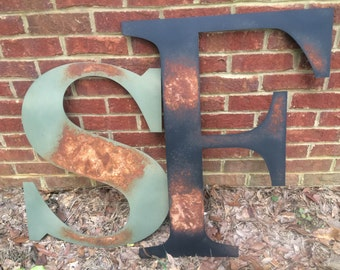 LARGE Patina Metal Letters