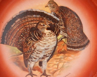 game bird plate