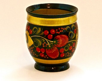 Russian Lacquer Strawberry Cup