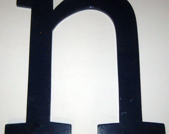Large Vintage Wood Letter N for Decorating, Crafting, etc
