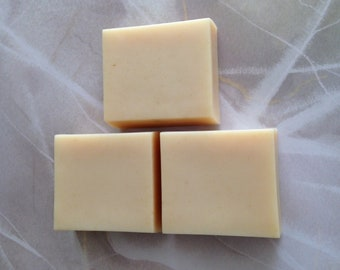 Lavender Facial-Size Soap with Buttermilk and Oatmeal; Just Under 4 Oz Luxury Bar Scented with Pure Lavender Essential Oil; Lard Soap