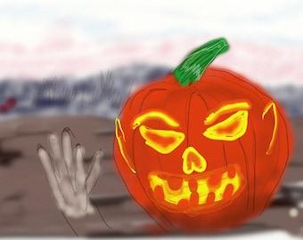Halloween, Jack O'lantern, pumpkin, digital halloween art