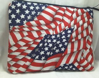 american flag bag, american flag purse, american flag clutch