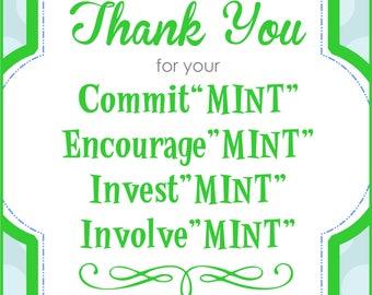 Teacher Appreciation Gift Tag - Mint themed