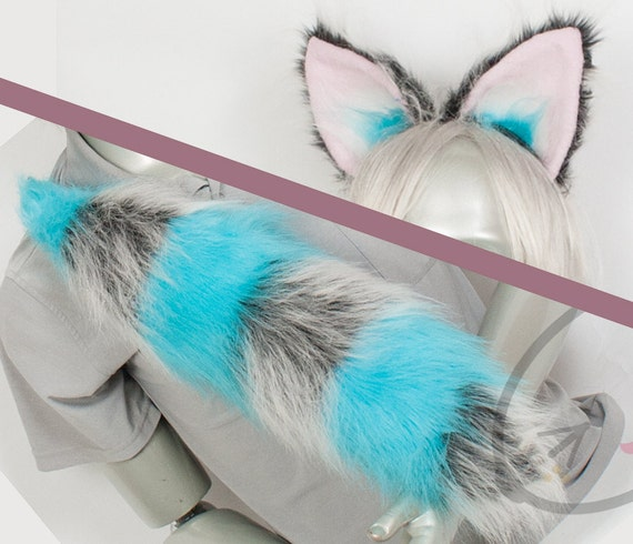 Fluffy Movie Cheshire Cat Ear and Tail Set Cosplay