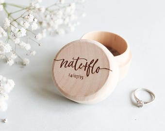 Custom Wood Ring Box, Personalised Wooden Ring Box, Rustic Wood Ring Box, Wood Ring Bearer Box, Custom Ring Box, Proposal Box, Wood Ring Box