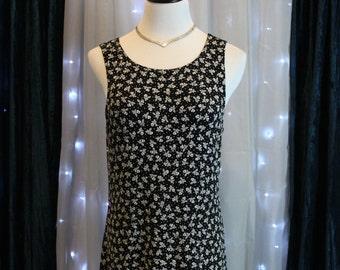 Vintage Black Dress By L'atelier,Cocktail Dress,Boho Dress,Retro Dress,1990's Dress,Dinner Dress,Party Dress,Summer Dress,Beach Dress