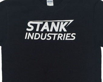 Civil War Tony Stark Parody T-Shirt: Stank Industries