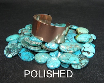 """Copper Cuff Bracelet Blank, 1"""" x 6"""" polished finish copper cuff for flame painting, enameling, etching, riveting, adding patina, engraving"""
