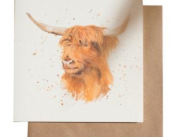 Hamish the Highland Cow Card