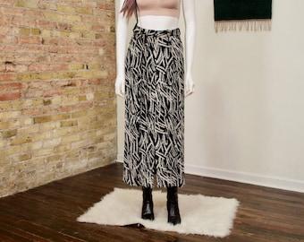 giorgio armani skirt / vintage armani / pleated skirt / midi skirt / abstrast skirt / silk / corduroy / chenille skirt / splatter print
