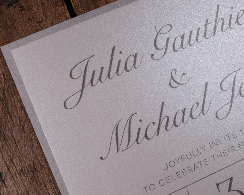 Kraft Wedding Invitations, Taupe Wedding Invitations, Taupe Kraft ...