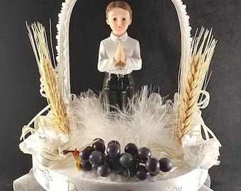 First communion, boy cake topper. Primera comunion para nino
