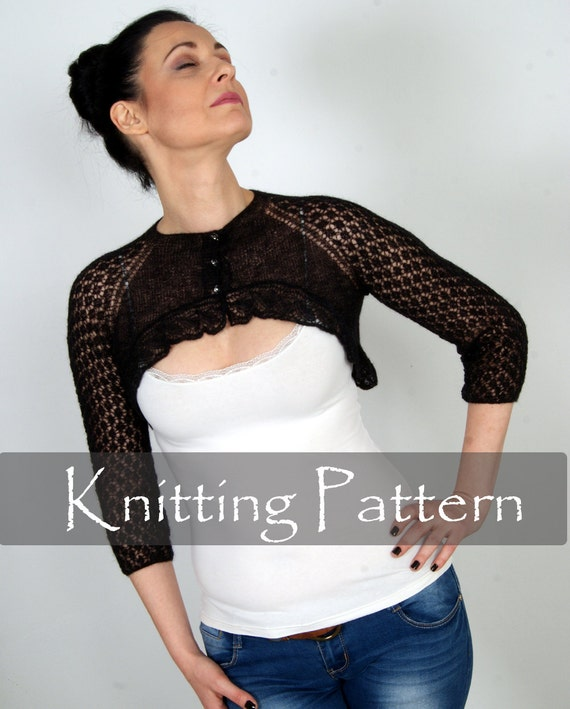 Knitting Pattern Cobweb Knit Shrug Lace Bolero Wedding Wrap
