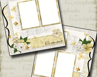 THE WEDDING - One - 2 Premade Scrapbook Pages - EZ Layout 657