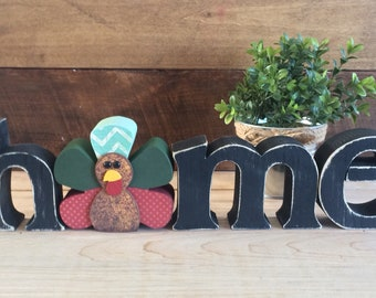 """November Mr. Tom Turkey interchangeable """"o"""" for the HME Letter Set- Thanksgiving decoration- Fall Decoration- Home Decor"""