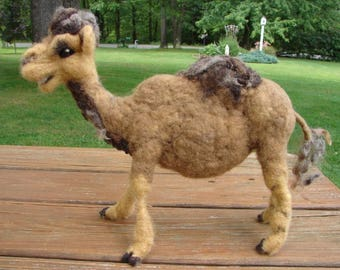 Needle Felted Camel, Felted Camel, Wool Camel, Camel, Soft Sculpture, Felted Animal, Wool Animal