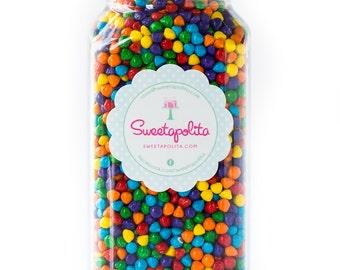 8oz (1 cup) Rainbow Bit Chips, Gluten-Free, Rainbow Sprinkles, Rainbow Crunch, Rainbow Bits, Colored Chocolate Chips
