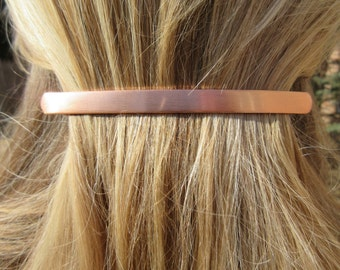 Rose gold barrette minimal hair clip long thin metal barrette simple sleek modern accessory gift idea Preppy bohemian boho chic barrette