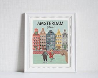 Amsterdam (City Love) - Art Print (8x10)