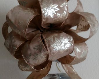 Gold Tree Topper Bow - Copper Tree Topper - Poinsettia Tree Topper  **FREE SHIPPING**