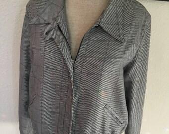 80's Vintage Black/White Waist Jacket