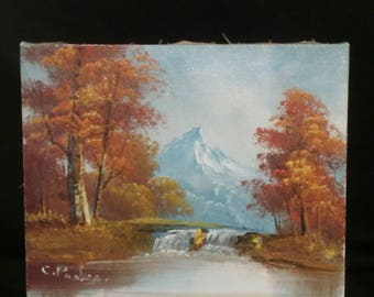 Small oil painting signed by C. Parker