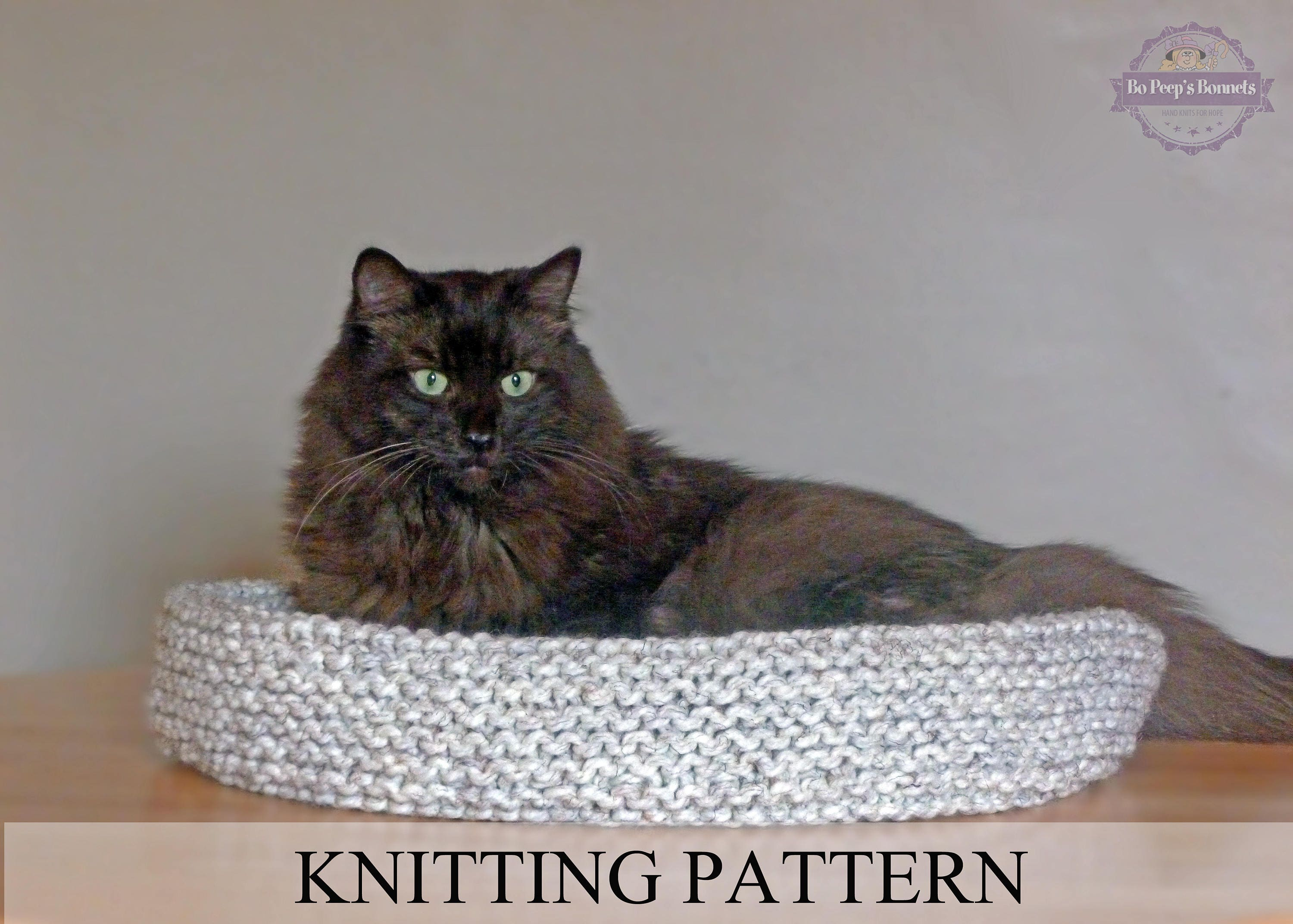 Cat bed knitting pattern knitted cat bed tutorial diy cat zoom jeuxipadfo Gallery