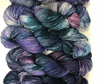 Hand dyed yarn MCN/ misty morning