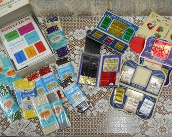 Huge LOT of Sewing Items...Rick Rack, Needles, Singer Professional Buttonholer & More