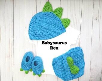 Babysaurus Rex Dinosaur Costume, First Birthday Cake Smash, Newborn Boy Dinosaur Outfit, Baby Shower Gift Dino Photo Prop, Halloween Costume