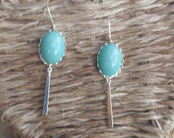 """Turquoise"" lace earring"