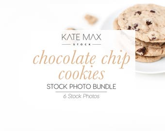 Neutral Chocolate Chip Cookies Stock Photo Bundle / 6 Styled Stock Photos / 10 KateMaxStock Lifestyle Branding Images for Your Business
