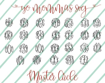 Master Circle Font download: svg//dxf//png//jpeg for Silhouette Cameo, Cricut, etc...