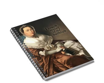 I Touch Myself in the Bathtub Notebook // Funny Notebook // Funny Journal // Funny Renaissance Journal // Funny Gift Journal // Funny Gift