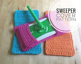 Crochet Pattern - Reusable Crochet Swiffer Cover Pattern - Sweeper Pad Pattern, Swifter Mop Pattern, Crochet Sweeper Mop Cover