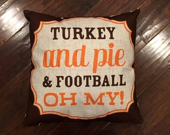 Turkey and Football - Fall pillow cover