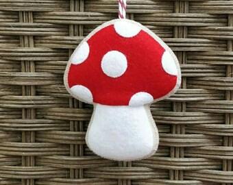 Cute Christmas Toadstool Ornament