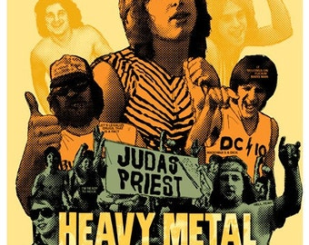 Heavy Metal Parking Lot - official movie poster (Maryland rock hair metal Judas Priest, tailgating, arena)