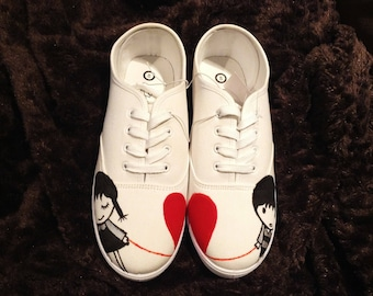 Handpainted shoes (boy and girl)