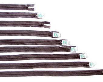 Sullivans Black Open-Ended Zips, 20 cm - 65 cm